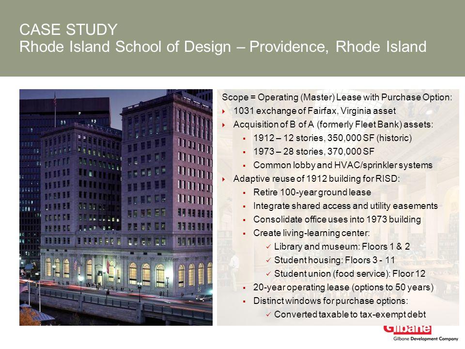 CASE STUDY Rhode Island School of Design – Providence, Rhode Island