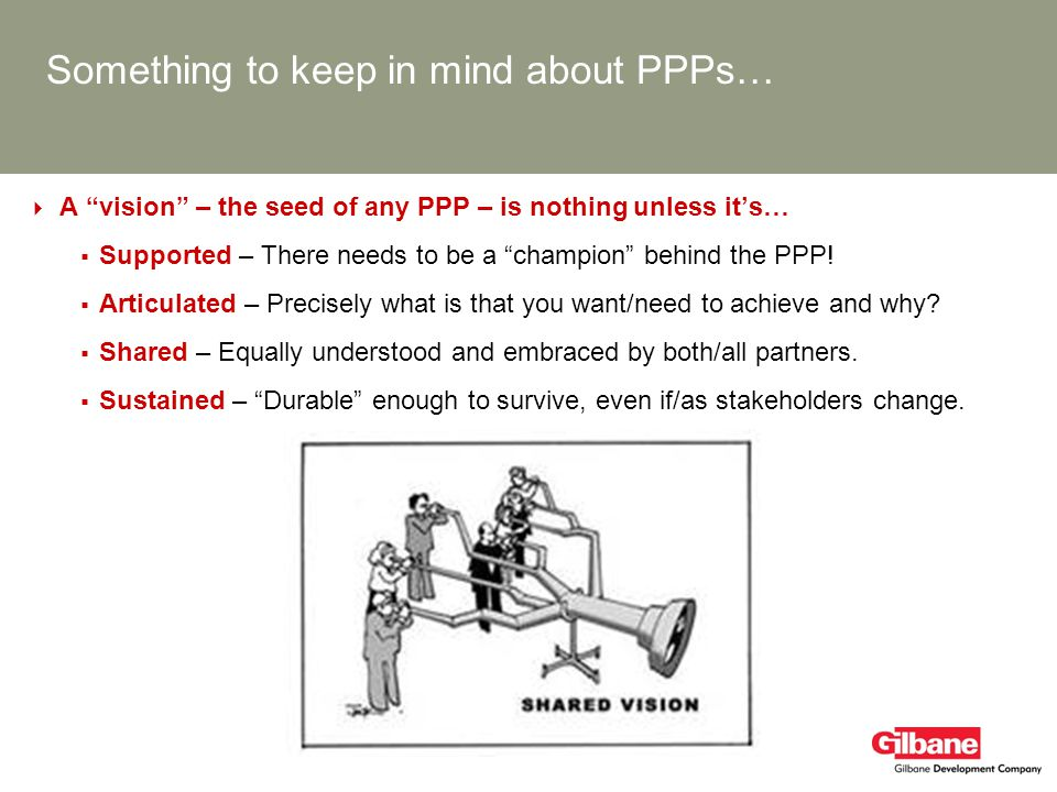 Something to keep in mind about PPPs…