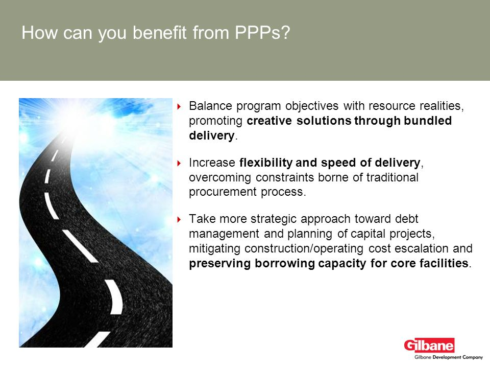 How can you benefit from PPPs