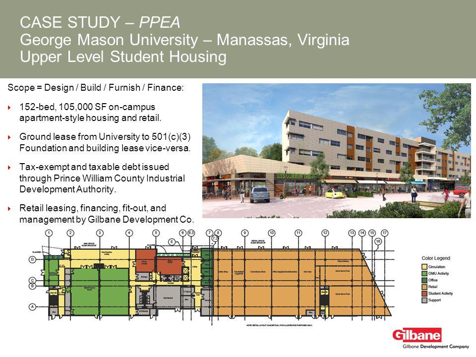 CASE STUDY – PPEA George Mason University – Manassas, Virginia Upper Level Student Housing