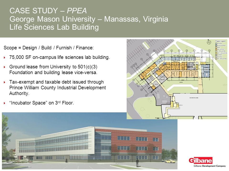 CASE STUDY – PPEA George Mason University – Manassas, Virginia Life Sciences Lab Building
