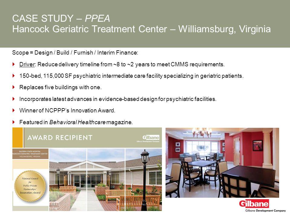CASE STUDY – PPEA Hancock Geriatric Treatment Center – Williamsburg, Virginia