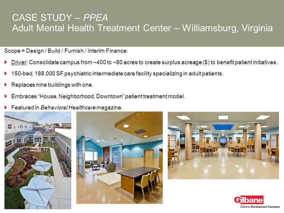 CASE STUDY – PPEA Adult Mental Health Treatment Center – Williamsburg, Virginia