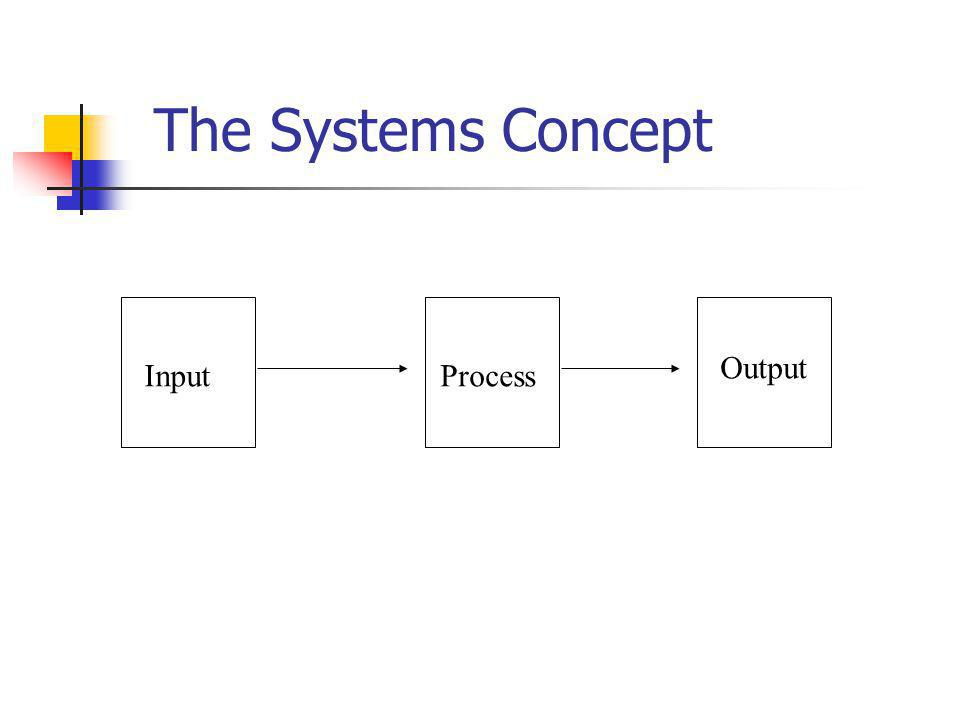 The Systems Concept Output Input Process
