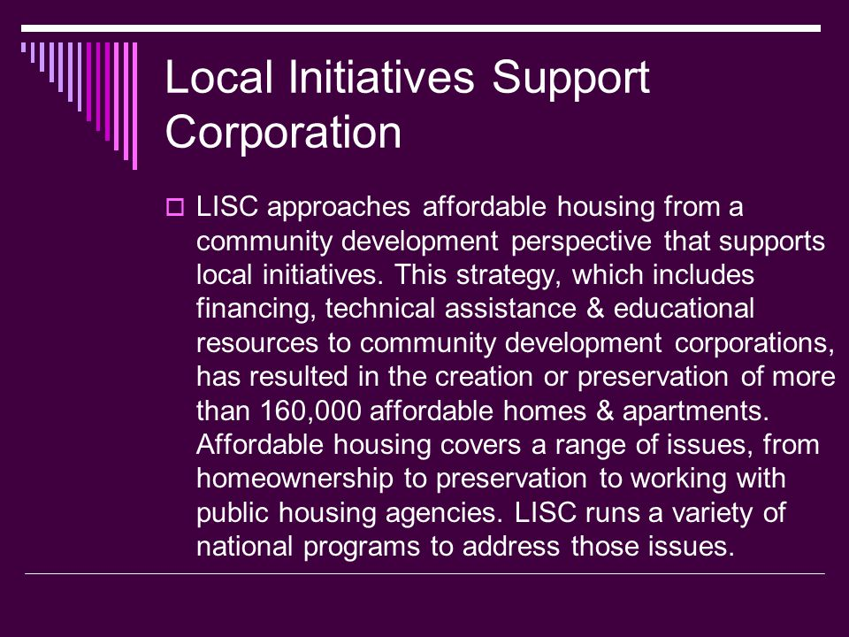 Local Initiatives Support Corporation