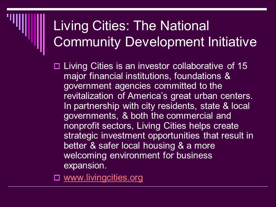 Living Cities: The National Community Development Initiative