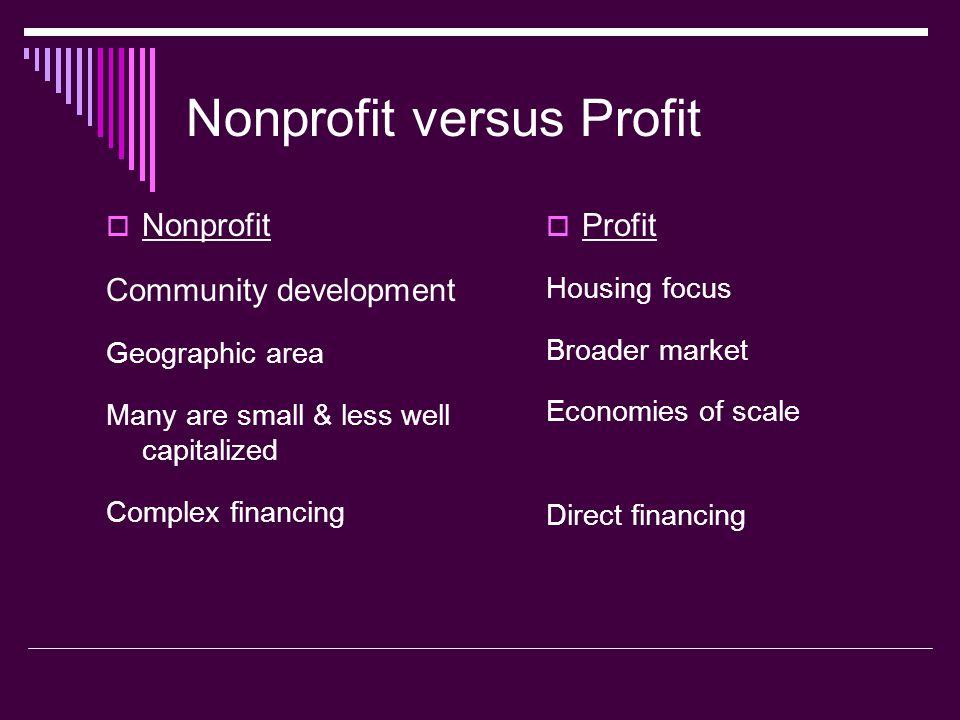 Nonprofit versus Profit