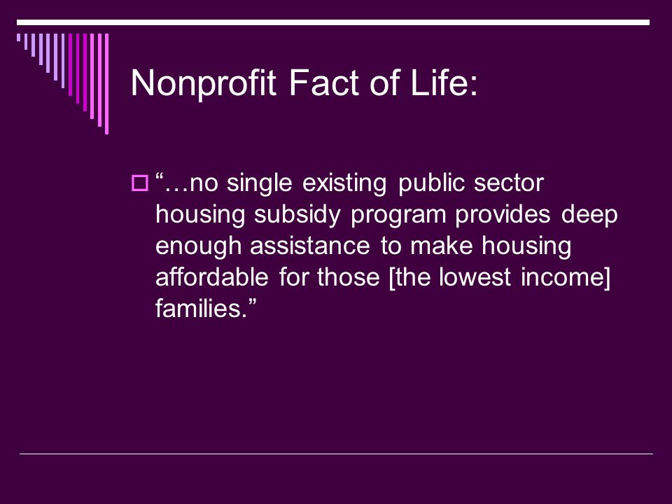 Nonprofit Fact of Life: