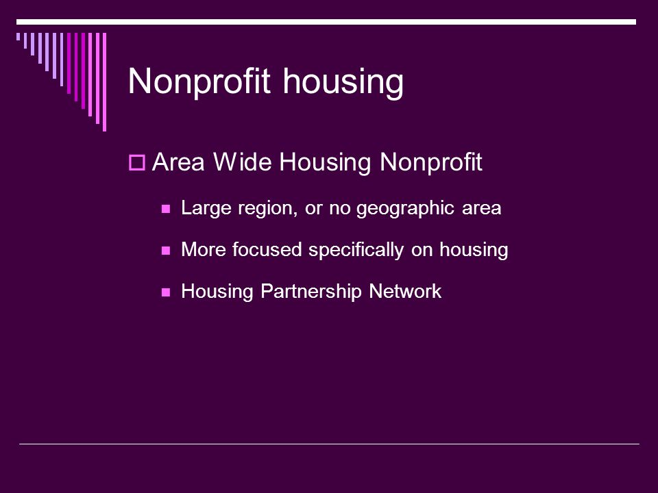 Nonprofit housing Area Wide Housing Nonprofit