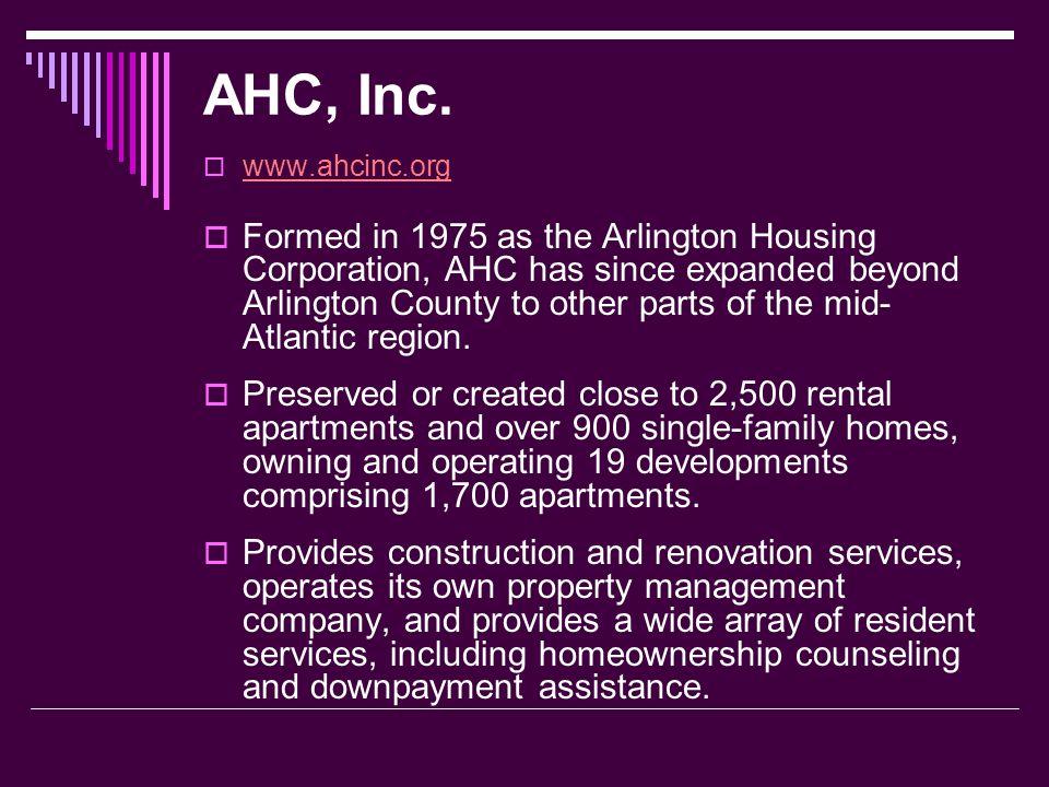 AHC, Inc. www.ahcinc.org.