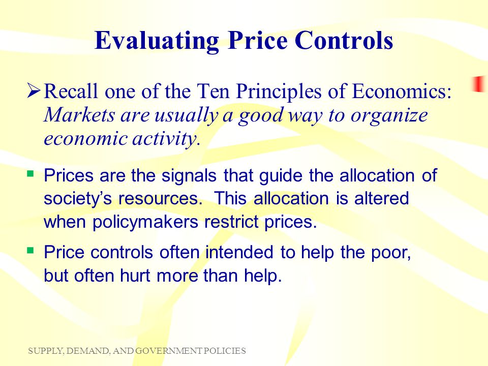 Evaluating Price Controls