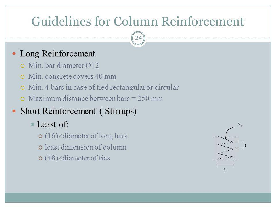 Guidelines for Column Reinforcement