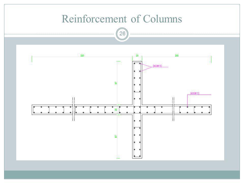 Reinforcement of Columns