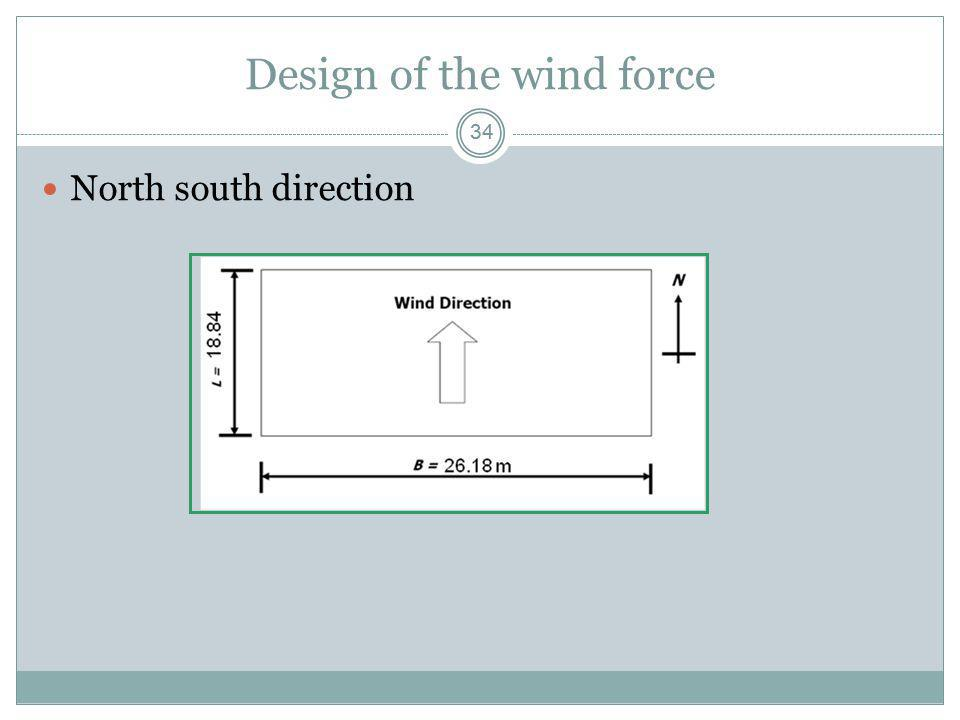Design of the wind force
