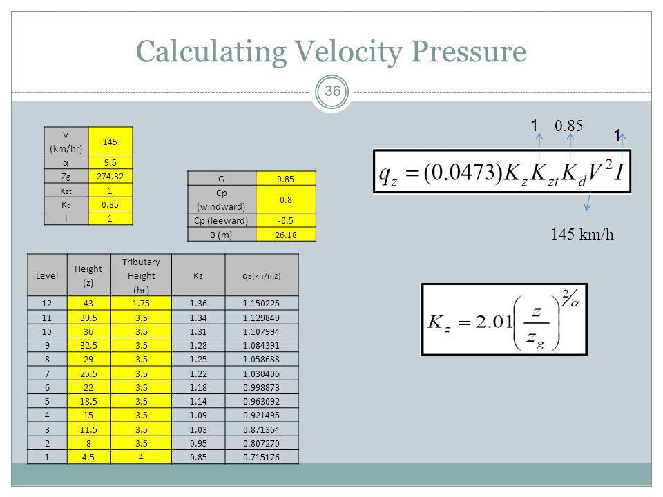 Calculating Velocity Pressure