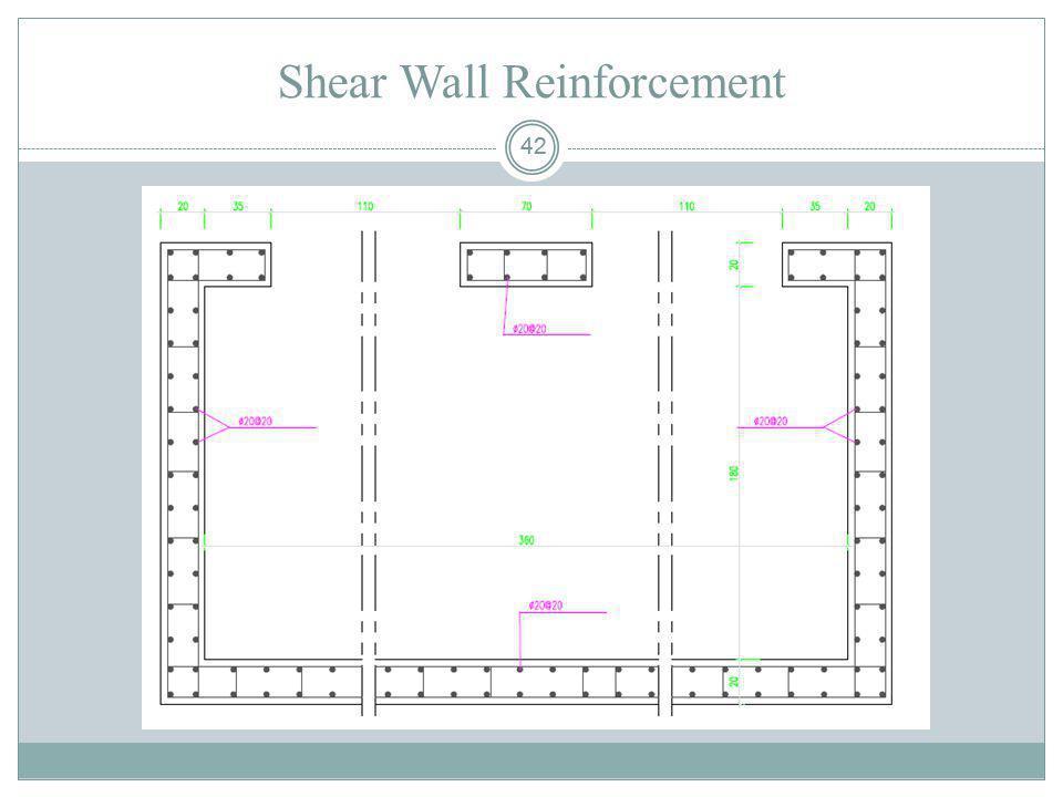Shear Wall Reinforcement