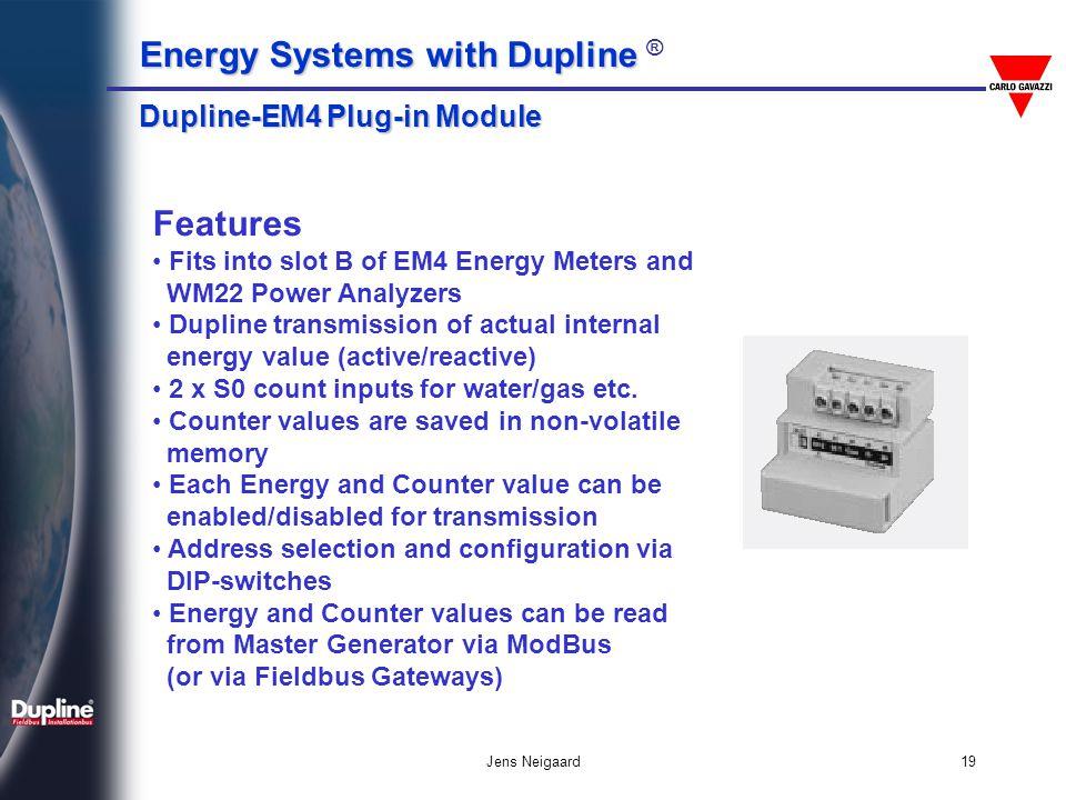 Features Dupline-EM4 Plug-in Module