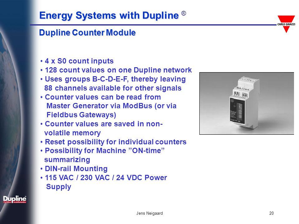 Dupline Counter Module