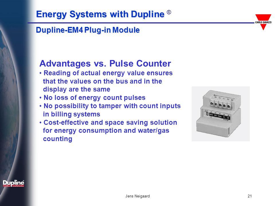 Advantages vs. Pulse Counter