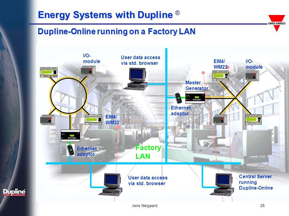 Dupline-Online running on a Factory LAN