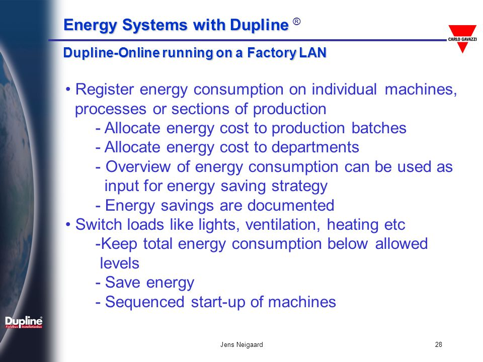 - Allocate energy cost to production batches