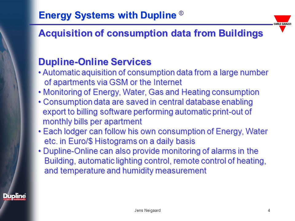 Acquisition of consumption data from Buildings