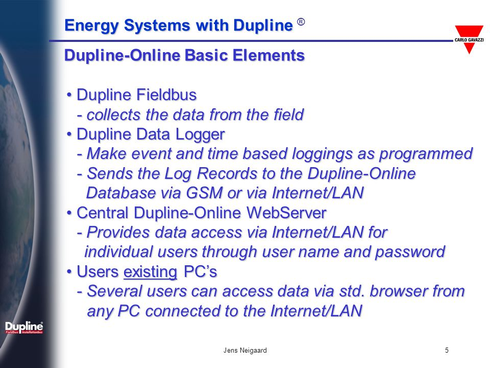 Dupline-Online Basic Elements