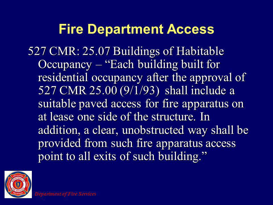 Fire Department Access