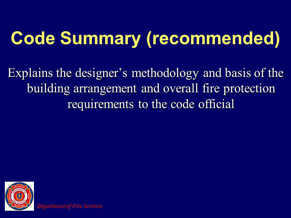 Code Summary (recommended)