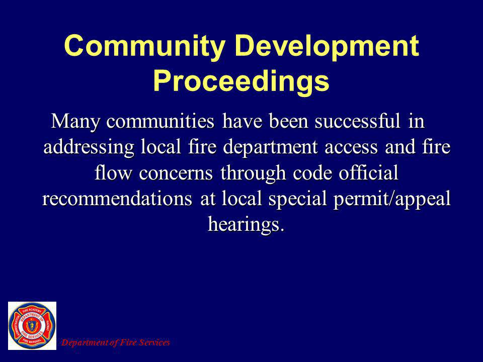 Community Development Proceedings