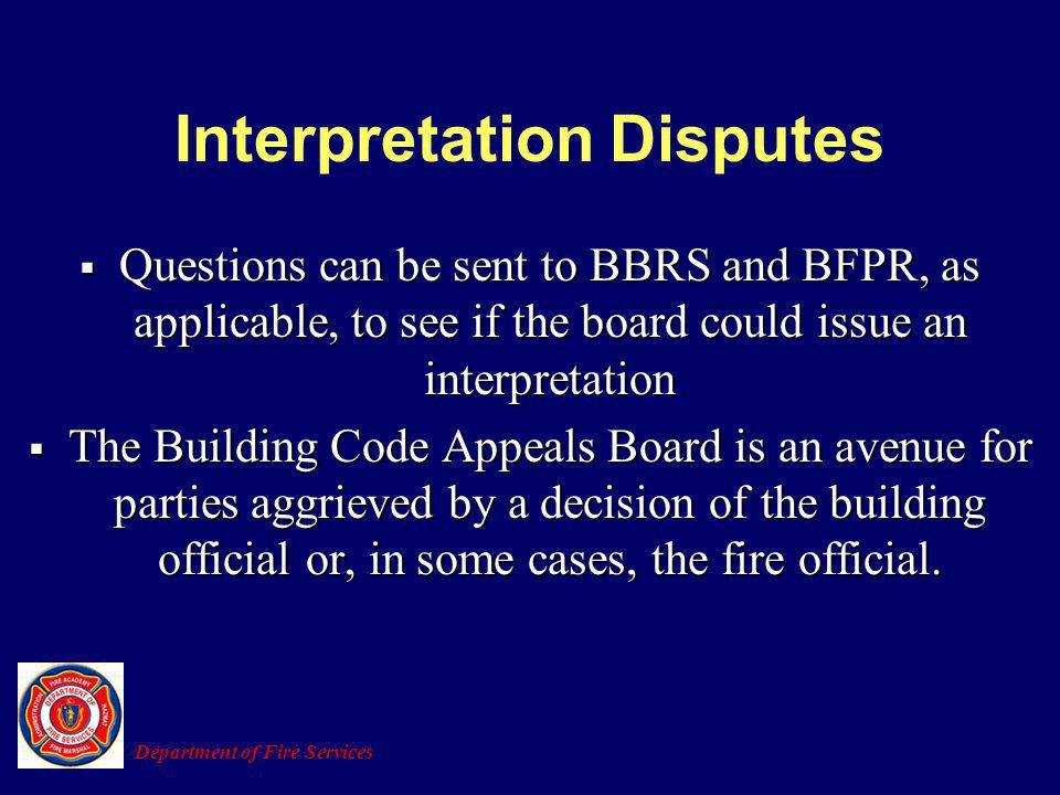 Interpretation Disputes