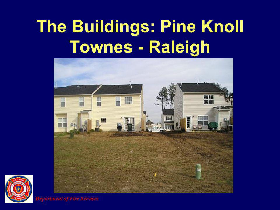 The Buildings: Pine Knoll Townes - Raleigh