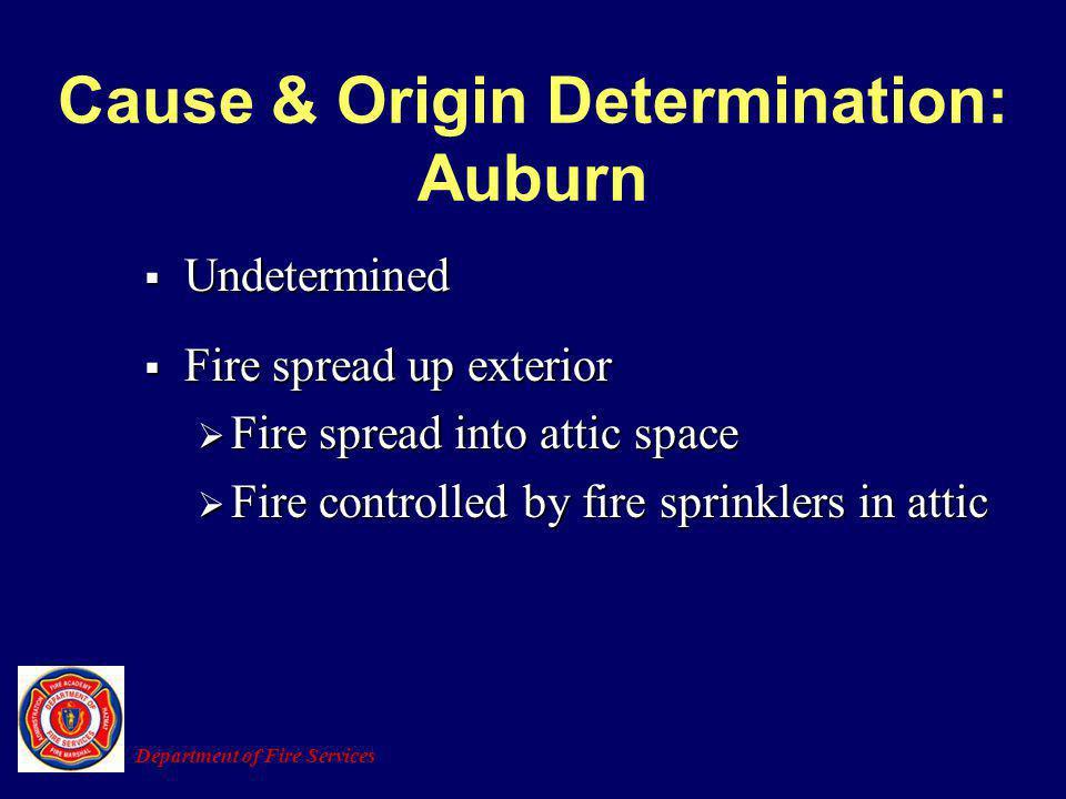 Cause & Origin Determination: Auburn