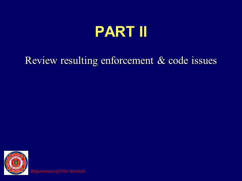 Review resulting enforcement & code issues