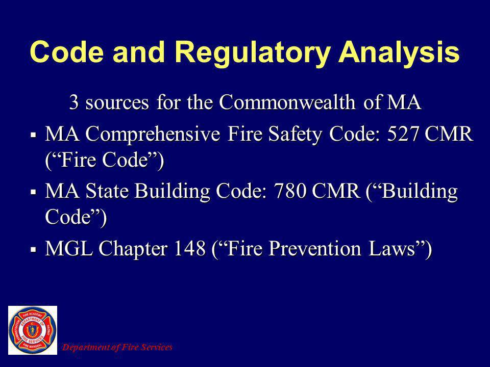 Code and Regulatory Analysis