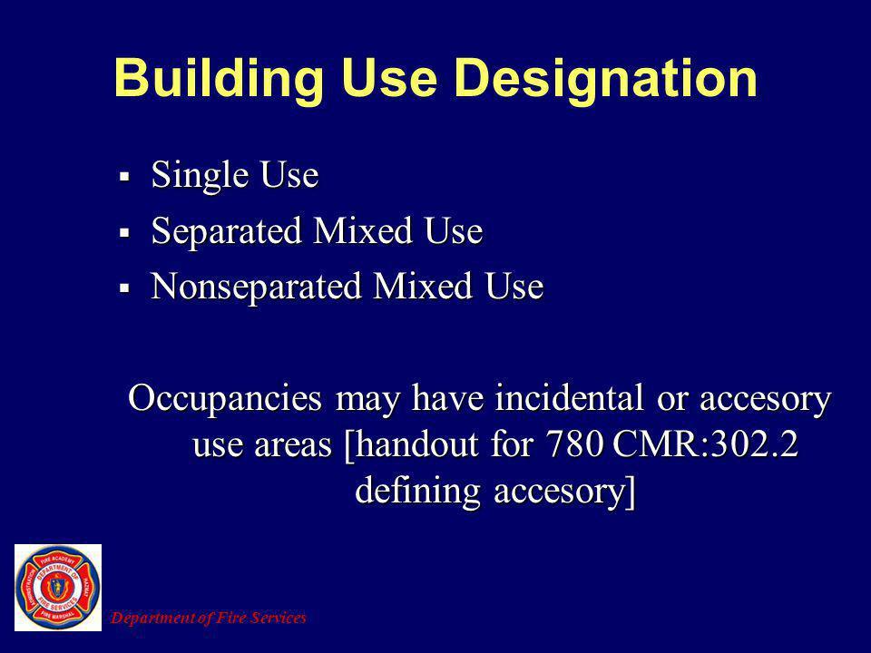 Building Use Designation