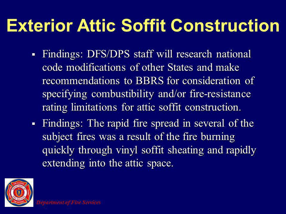 Exterior Attic Soffit Construction