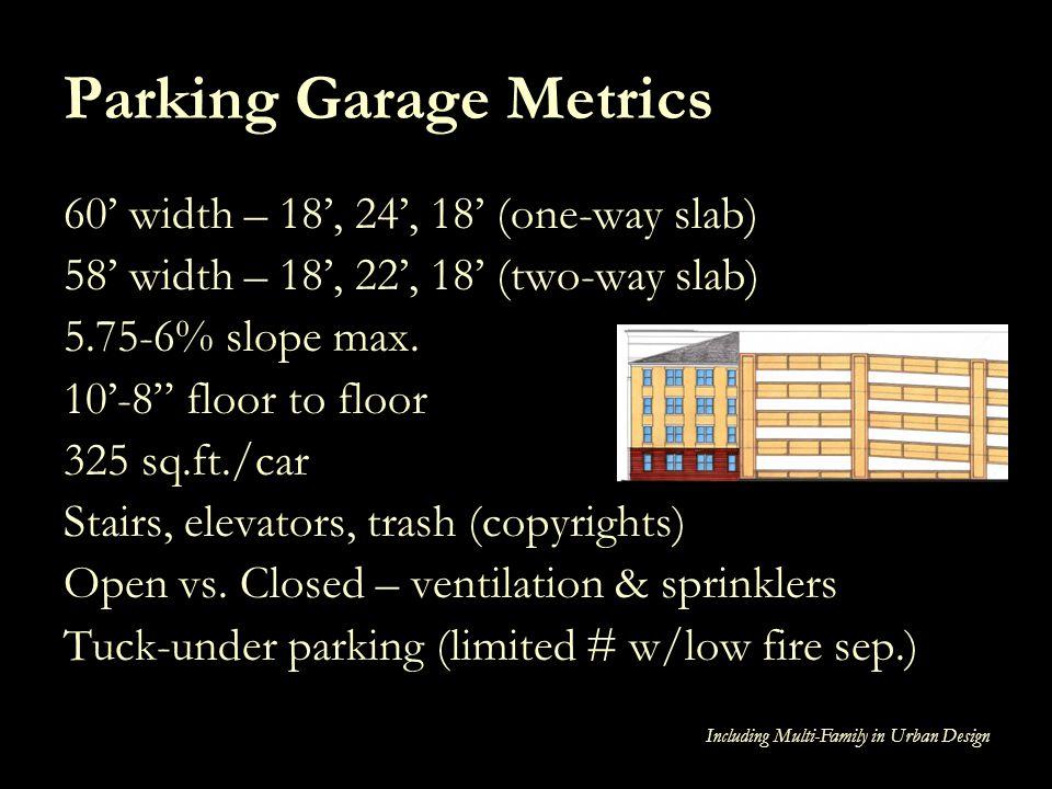 Parking Garage Metrics