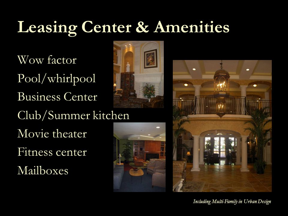 Leasing Center & Amenities
