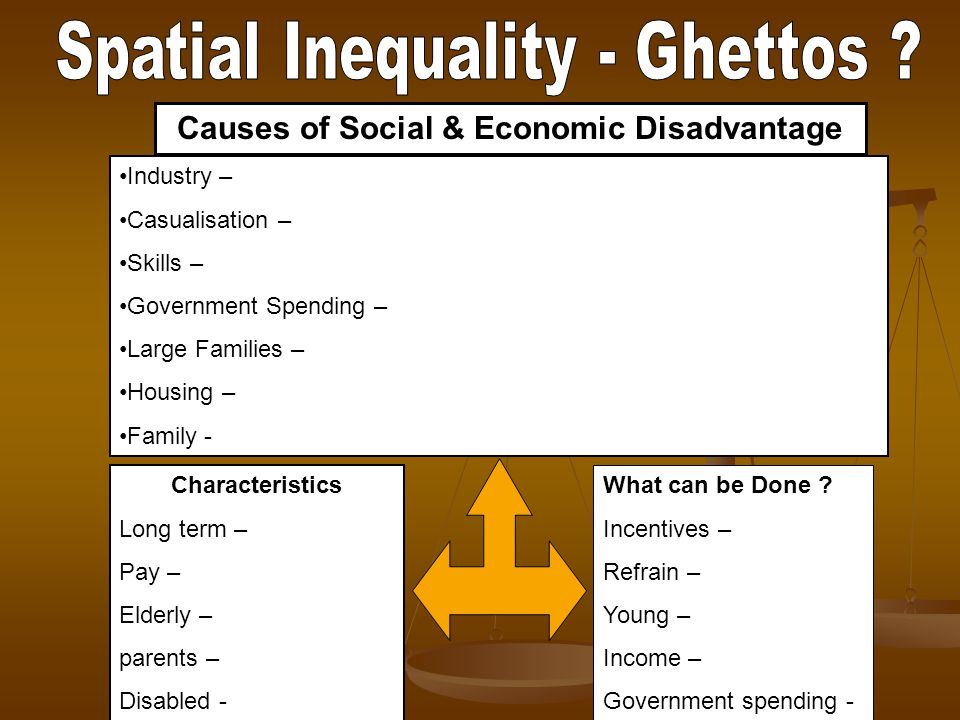 Causes of Social & Economic Disadvantage