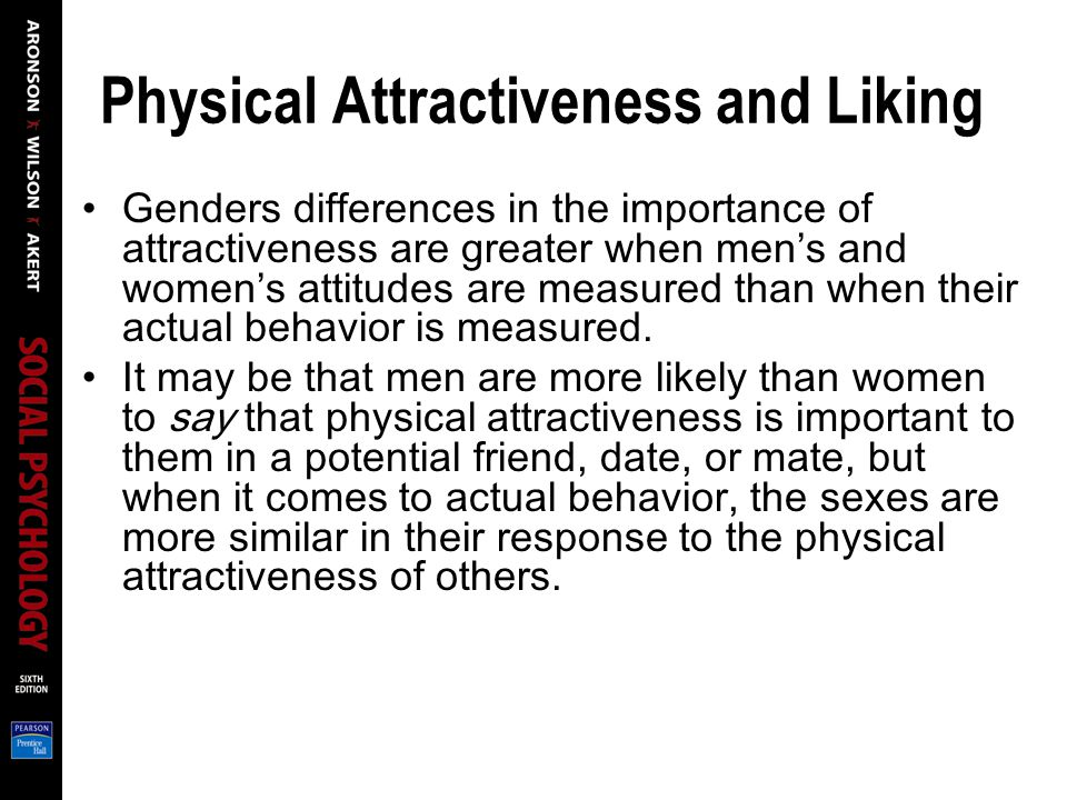 Physical Attractiveness and Liking