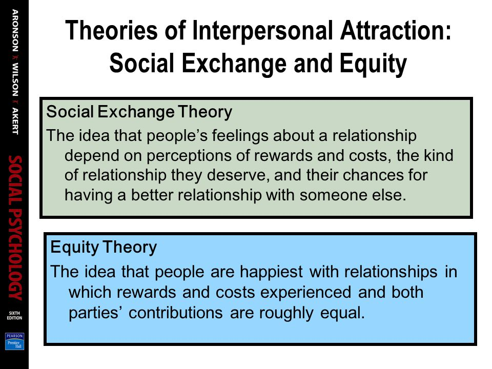 Theories of Interpersonal Attraction: Social Exchange and Equity