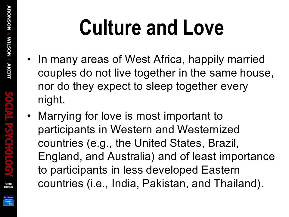 Culture and Love