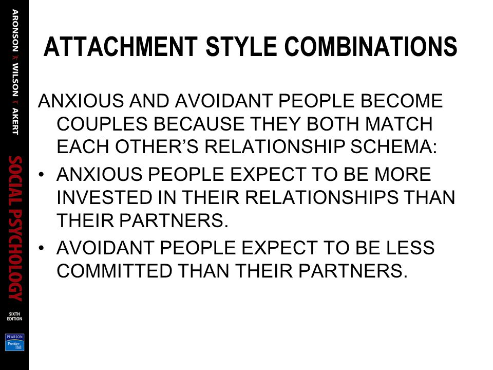 ATTACHMENT STYLE COMBINATIONS