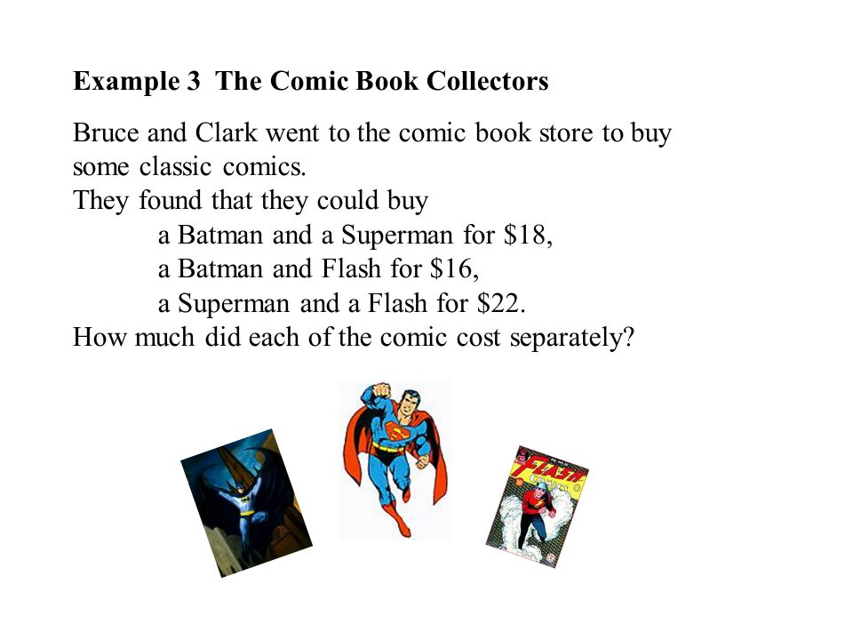 Example 3 The Comic Book Collectors