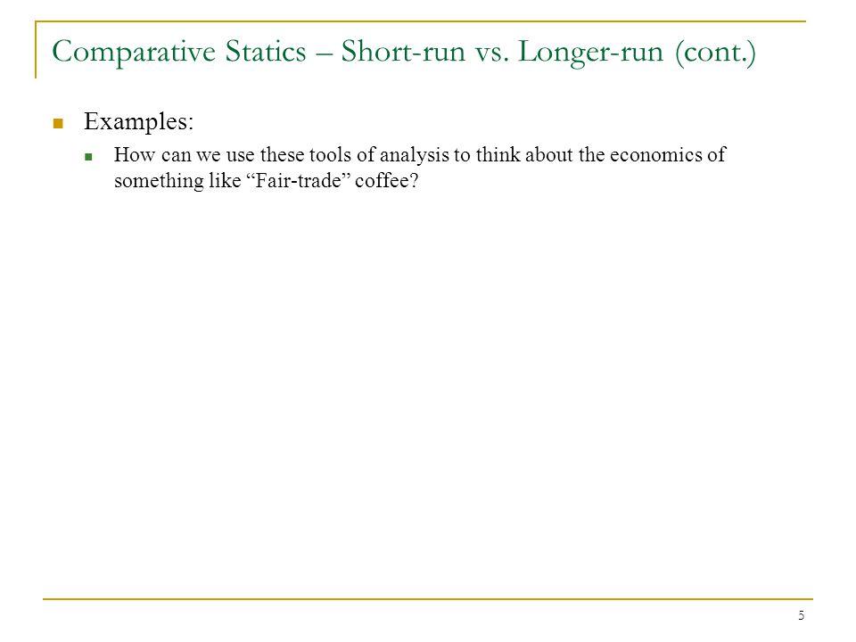Comparative Statics – Short-run vs. Longer-run (cont.)