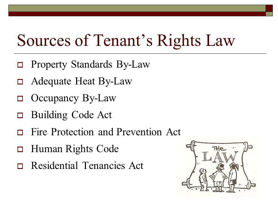 Sources of Tenant's Rights Law
