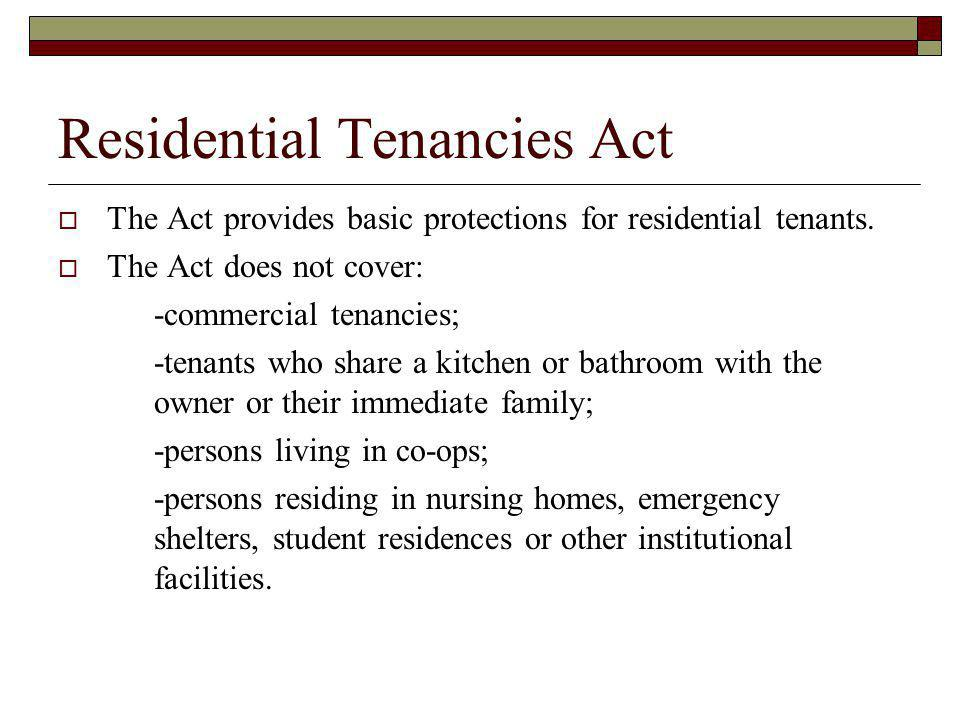 Residential Tenancies Act