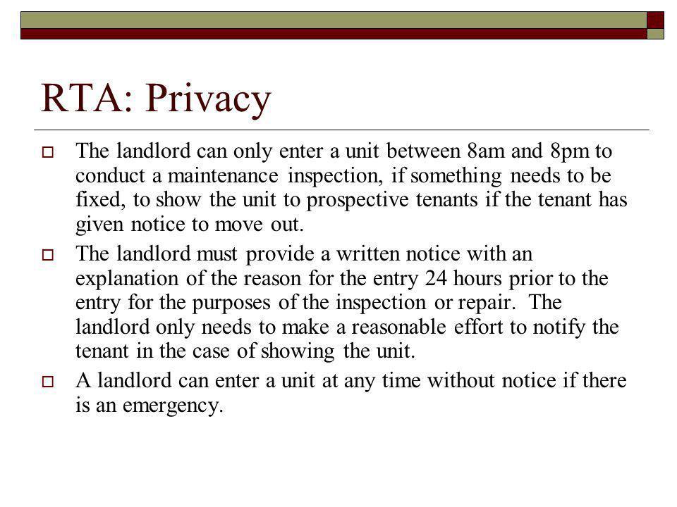 RTA: Privacy