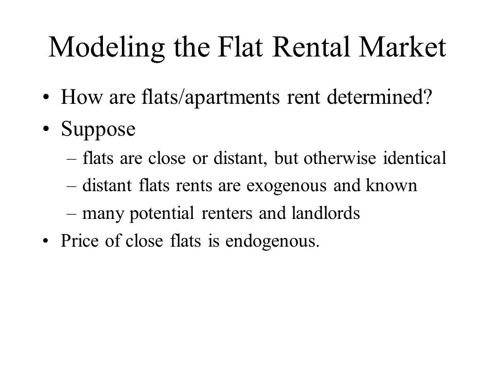 Modeling the Flat Rental Market